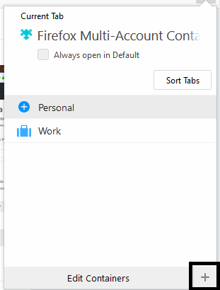Firefox Multi-Account Containers
