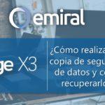 Cómo realizar una copia de seguridad de datos y cómo recuperarlos en Sage X3