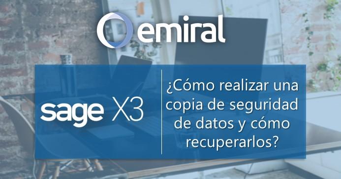 Copia de seguridad de datos en Sage X3