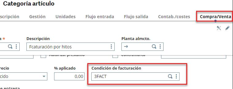 condiciones de facturación simulación compra-venta sage x3