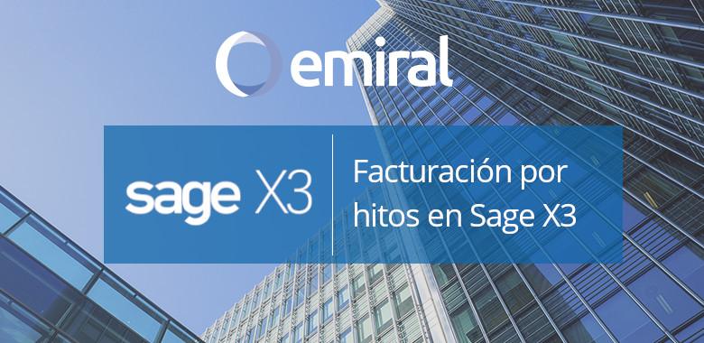 Facturación por hitos en Sage X3