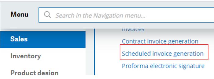 generation scheduled invoice