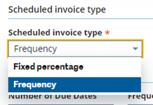 scheduled invoice type