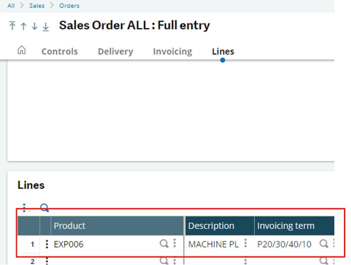 sales-order-Sage X3