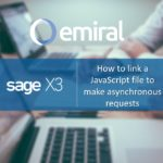 How to link a JavaScript file to make asynchronous requests from Sage X3