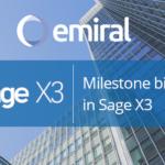 Milestone billing Sage X3